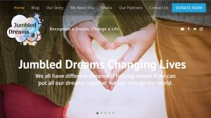 Jumbled Dreams Changing Lives, Unique Concepts Web Design